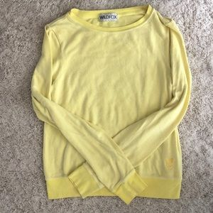 Wildfox Yellow Sweatshirt Size Small
